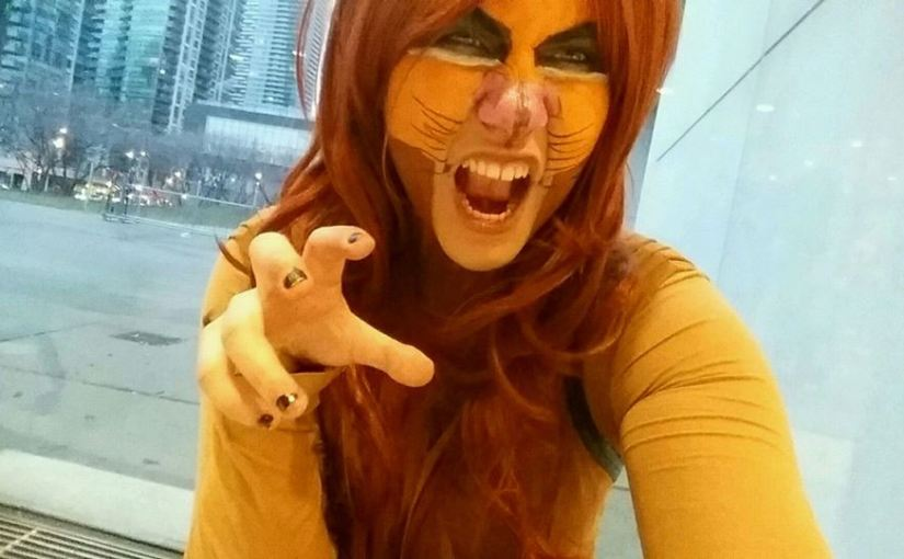 That time I cosplayed Simba from 'The Lion King'