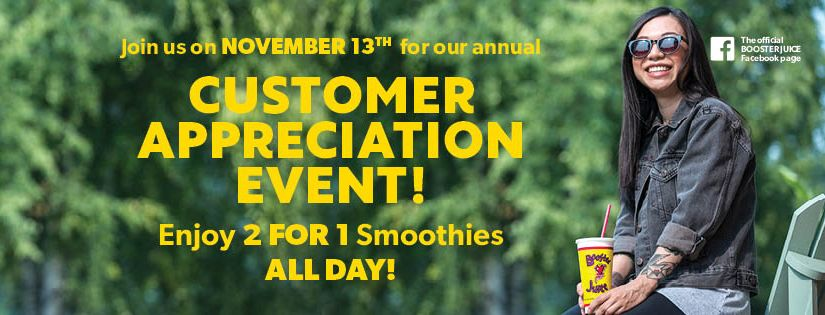 Booster Juice Is Celebrating Its Customers With 2-for-1 Special Today