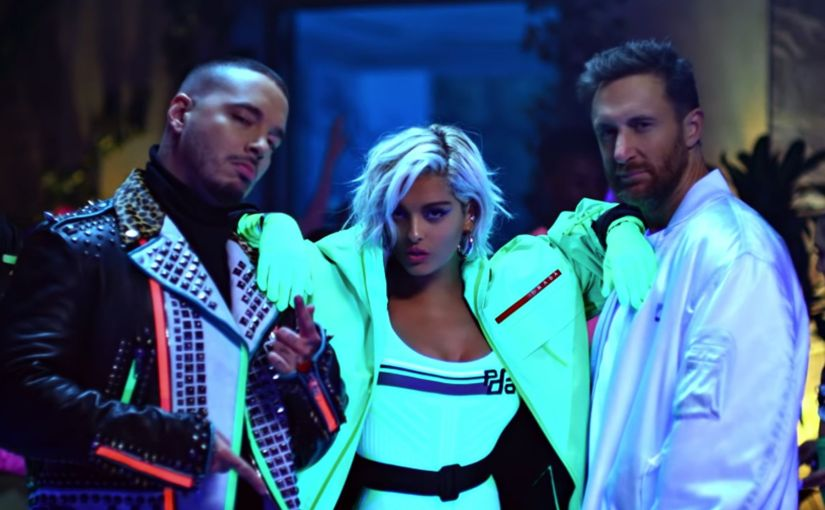 David Guetta, Bebe Rexha And J Balvin's 'Say My Name' Is A Sexy Festive NeonVideo